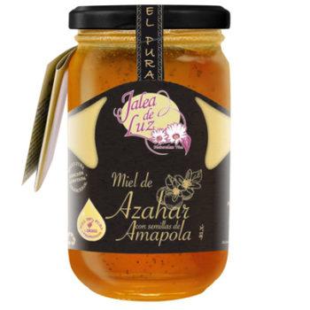 Miel de azahar con semillas de amapola 500 grm