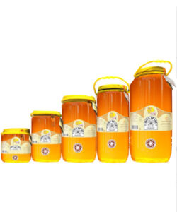 Miel cruda de limón en garrafa