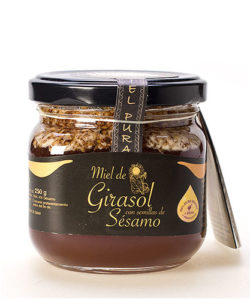 Sunflower Honey with sesame seeds 250 gr