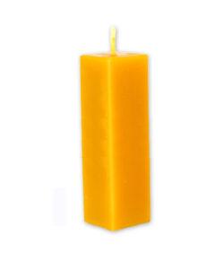 Vela rectangular compacta 25 cm